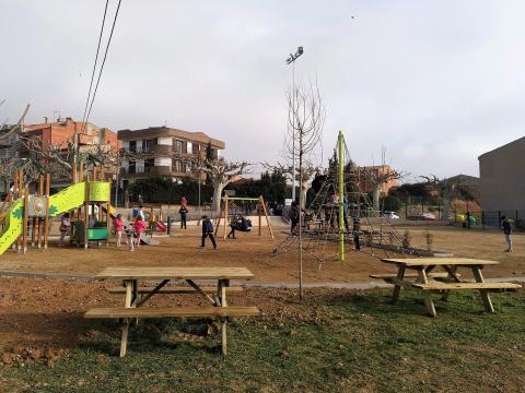 El parc, el dia de la inauguració, el 19 de gener